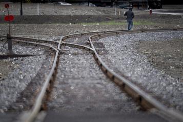 Des rails usés ont été réparés à Lac-Mégantic)