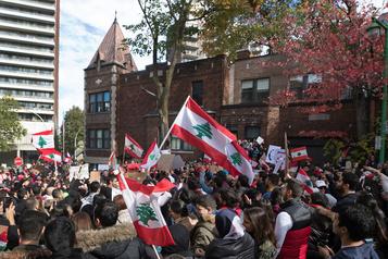 Manifestation à Montréal pour la démission du gouvernement libanais