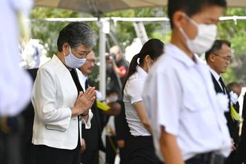 Nagasaki se recueille, 75ans après la bombe atomique)