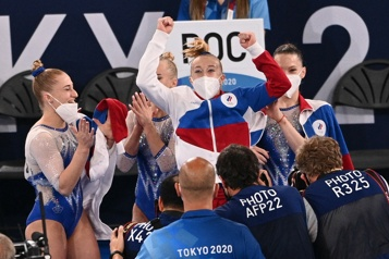 Gymnastique La Russie remporte le concours général par équipes devant les États-Unis)