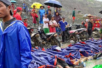 Birmanie: plus de 160 mineurs tués dans un glissement de terrain)