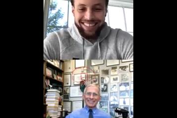 Stephen Curry a mené une discussion avec le DrFauci des États-Unis