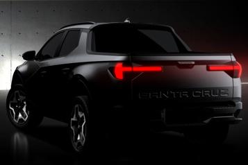 Hyundai  Santa Cruz: premières photos avant le lancement de la camionnette )
