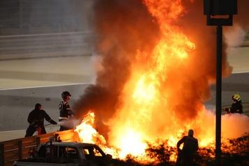 Accident au Grand Prix de Bahreïn  Le pilote Romain Grosjean a «vu la mort de trop près»)