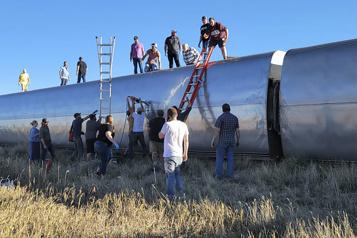 Montana Le déraillement d'un train fait plusieurs blessés)