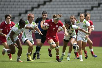 Rugby à sept Le Canada écrase le Brésil33-0)