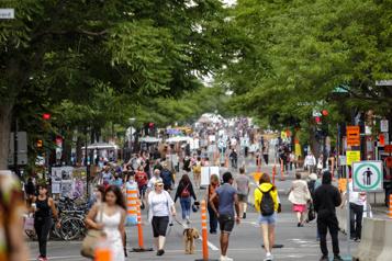Treize rues piétonnes cet été à Montréal)