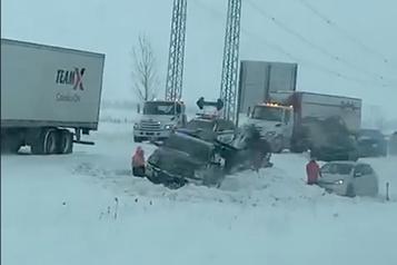 L'autoroute 10 rouverte après un carambolage majeur