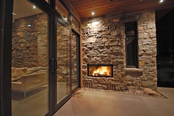 Un foyer extérieur pour réchauffer l'hiver )