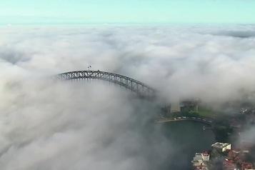 Sydney sous un épais brouillard)