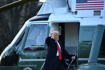 Trump a quitté la Maison-Blanche)