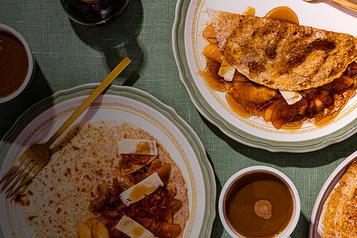 Recettes d'ici - Matin sucré-salé Crêpes de sarrasin aux pommes et cheddar