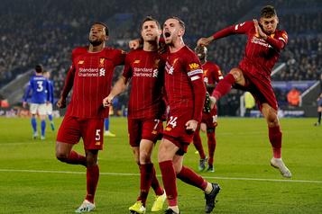 Impitoyable, Liverpool creuse encore l'écart