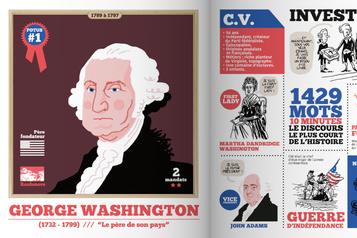 À quelques jours du vote Une BD brosse le portrait des présidents américains)