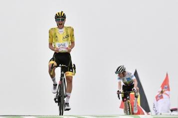 Tour de France Tadej Pogacar gagne au sommet du Portet)