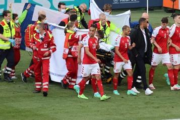 Euro «Touché» par le soutien, Christian Eriksen reste en observation)