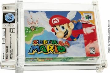 Nouveau record Une cartouche Super Mario 64 vendue 1,56 million de dollars aux enchères)