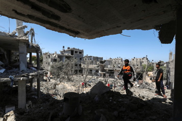 Israël multiplie les bombardements dans la bande de Gaza)