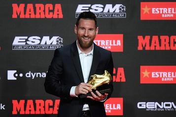Avec son sixième Soulier d'or, Messi entre un peu plus dans la légende