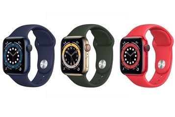 Apple Watch Series 6 Couleurs, oxygène et bracelet sans attache)
