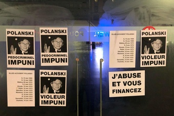 Des affiches anti-Polanski placardées sur des cinémas de Bruxelles
