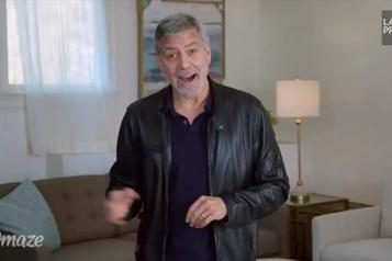 Publicité George Clooney, un mauvais colocataire qui adore Brad Pitt)