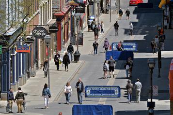 Québec: des rues piétonnes survivront à la pandémie)