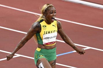 Athlétisme Triplé jamaïcain au 100m féminin)
