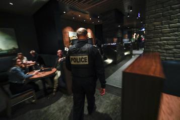 Visites policières dans les bars Beaucoup d'avertissements, peu de constats)