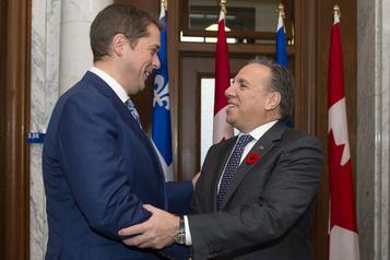 Demandes de Legault: Scheer répond un oui partiel à Québec