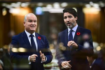 Entretien entre Justin Trudeau et Erin O'Toole Un compte-rendu publié… avant l'appel téléphonique)