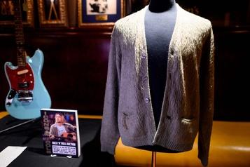 Le gilet légendaire de Kurt Cobain vendu 334000dollars aux enchères