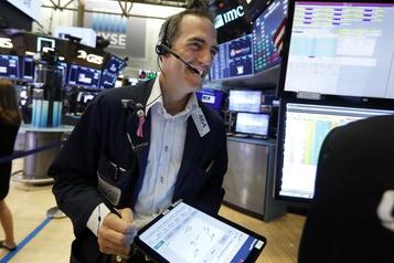 Wall Street en hausse avec la remontée des taux obligataires