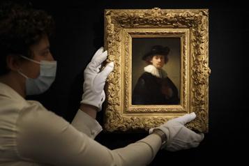 Un rare autoportrait de Rembrandt vendu 25,1millions)