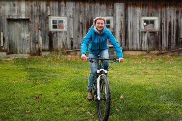 La fermière à vélo qui rêve des JO