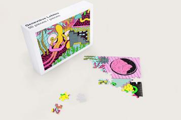 Des œuvres numériques adaptées... en casse-tête de carton)