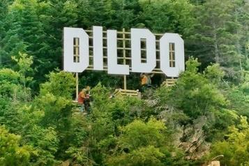 Terre-Neuve-et-Labrador Les lettres géantes «Dildo» attirent les curieux)