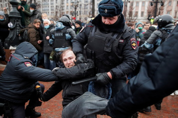 Russie Plus de 2500arrestations lors de manifestations soutenant Navalny)