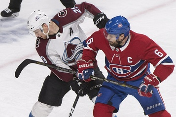 Avalanche 2 - Canadien 0 (1er entracte)
