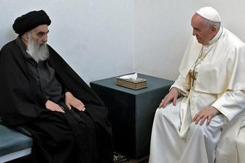 Irak Le pape et l'ayatollah Sistani prient pour la paix)