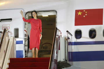 Retour triomphal de Meng Wanzhou en Chine)