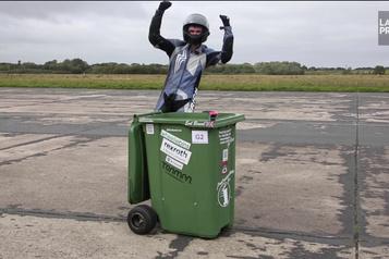 Incroyable mais vrai Une poubelle de course !)