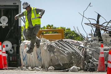 Effondrement en Floride Le site du bâtiment Towers toujours dangereux)
