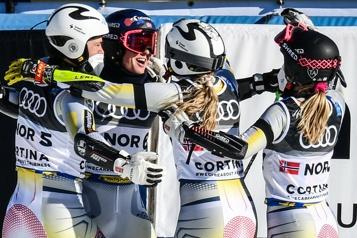 Mondiaux de ski alpin La Norvège remporte l'épreuve par équipes)