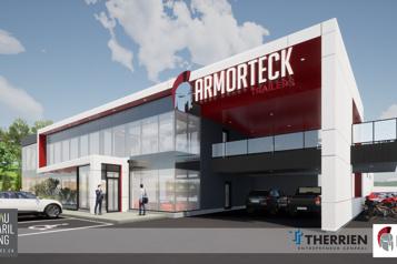 Univers PME Nouvelle usine, nouvelle remorque pour Armorteck)