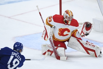 David Rittich et les Flames blanchissent les Maple Leafs 3-0)