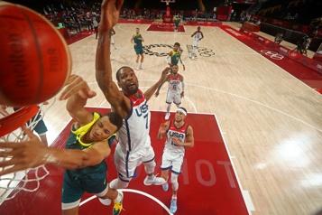Basketball masculin Les Américains montent vers l'Olympe en rouleau compresseur)
