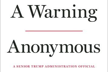 L'«anonyme» de la Maison-Blanche a écrit un livre sur Trump