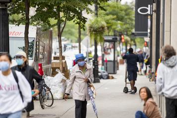 Baisse de 92% de la fréquentation du centre-ville de Montréal)