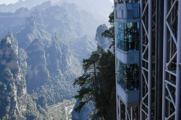 À bord d'un ascenseur Une vue sur les paysages ayant inspiré Avatar)